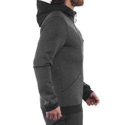 Warme stretch herensweater voor trekking Forclaz 900 gemêleerd grijs - 1173644