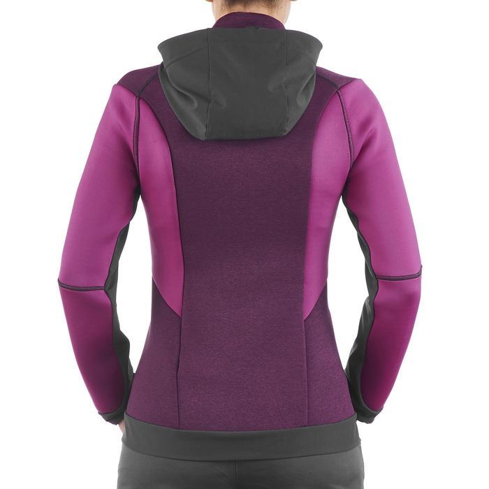 Veste polaire de randonnée montagne femme Forclaz 900 rose chiné - 1173650