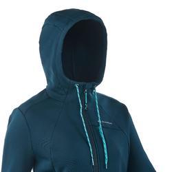 Chaqueta Polar Montaña Trekking Quechua Forclaz400 Mujer Azul Verde Stretch