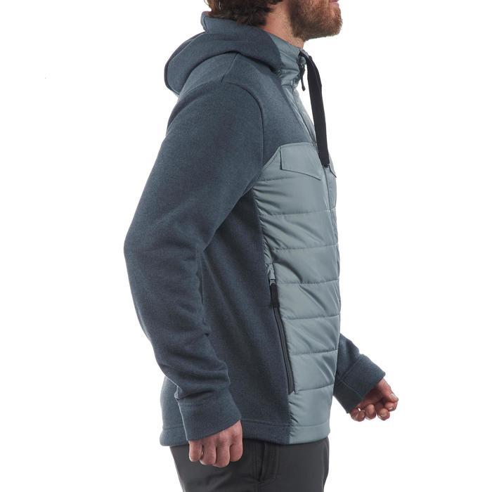 Men's nature hike pullover Arpenaz Hybrid brown - 1173665