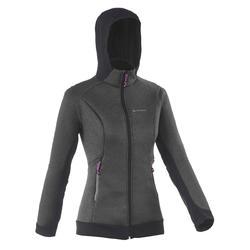 Warme stretch damessweater voor trekking Forclaz 900 gemêleerd - 1173666