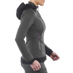 Warme stretch damessweater voor trekking Forclaz 900 gemêleerd - 1173667