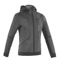 Warme stretch herensweater voor trekking Forclaz 900 gemêleerd grijs