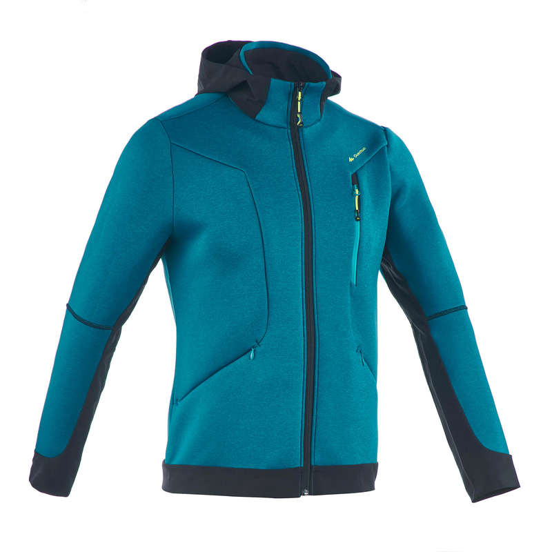 MEN MOUNTAIN HIKING FLEECES - MH920 M Fleece - Turquoise QUECHUA