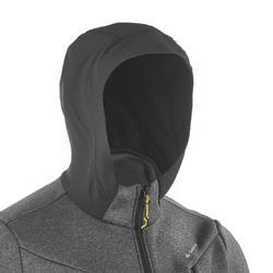Warme stretch herensweater voor trekking Forclaz 900 gemêleerd grijs - 1173698