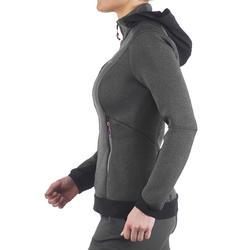 Warme stretch damessweater voor trekking Forclaz 900 gemêleerd - 1173710