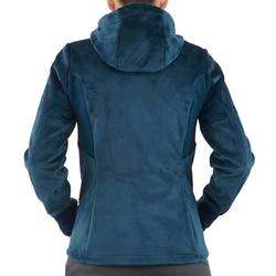 Fleece damesvest voor bergwandelen MH520 turquoise