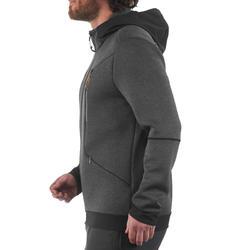 Warme stretch herensweater voor trekking Forclaz 900 gemêleerd grijs - 1173716
