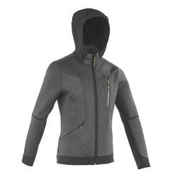 Warme stretch herensweater voor trekking Forclaz 900 gemêleerd grijs - 1173721