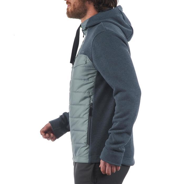 Men's nature hike pullover Arpenaz Hybrid brown - 1173730