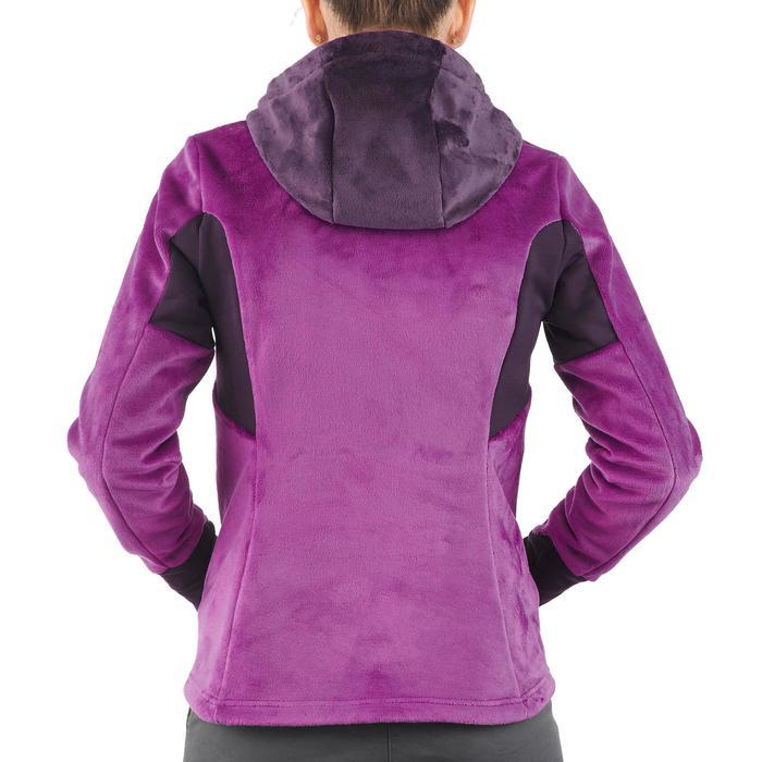 Chaqueta polar de travesía montaña Forclaz 500 mujer púrpura