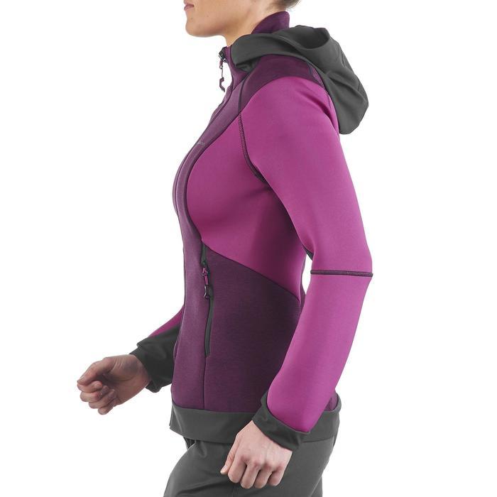 Veste polaire de randonnée montagne femme Forclaz 900 rose chiné - 1173732