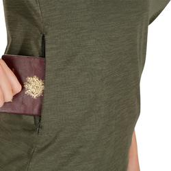 Travel100 Women's Short-Sleeved Trekking Polo Shirt - Khaki
