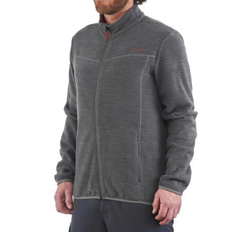 veste polaire randonn e montagne homme forclaz 200 gris chin quechua. Black Bedroom Furniture Sets. Home Design Ideas