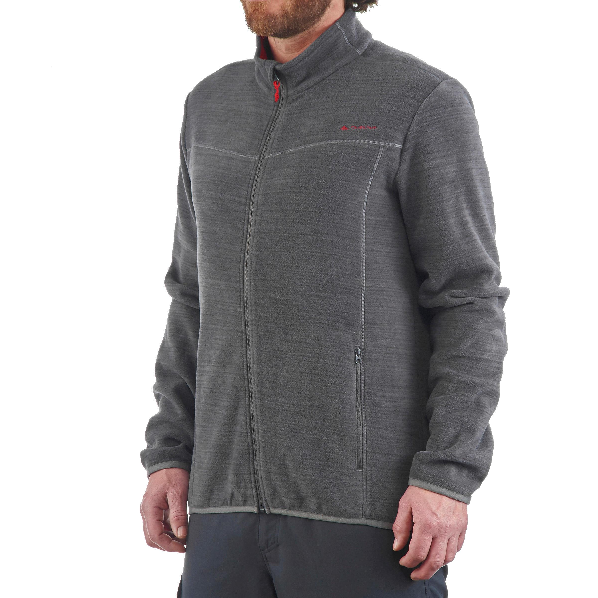 Veste polaire randonnée montagne homme Forclaz 200 gris chiné