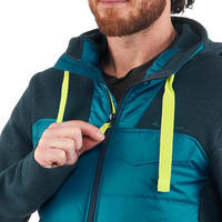 Chandail de randonnée nature homme NH500 Hybride turquoise