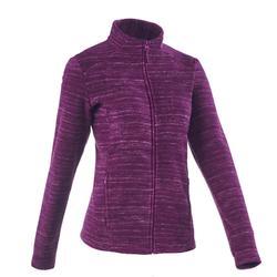 Forclaz 200 女士登山健行刷毛外套-亮紫色