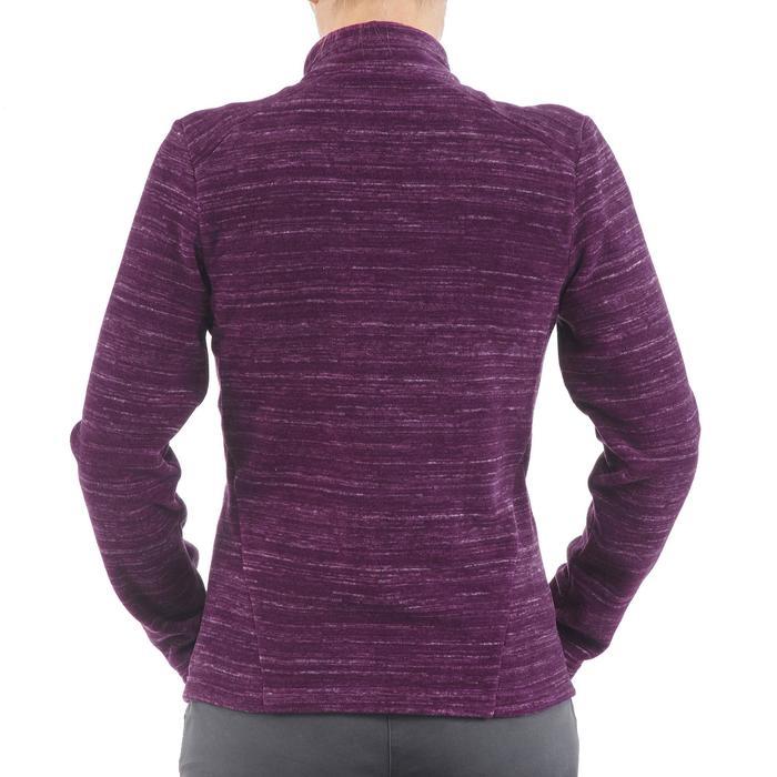Fleece hoodie voor bergwandelen dames Forclaz 200 gevlamd purper