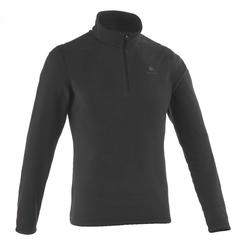 MH100 Men's Mountain Hiking Fleece Sweater - Black