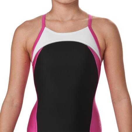 Neole girls' one-piece swimsuit - black pink