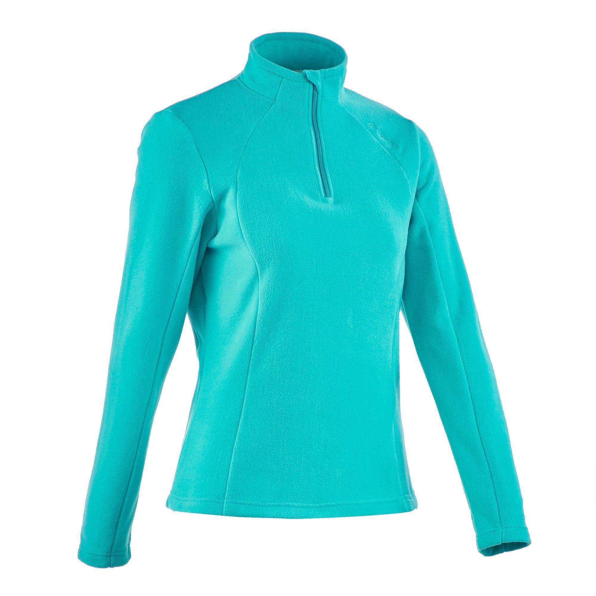 Forclaz 50 Women S Mountain Hiking Fleece Caribbean Blue