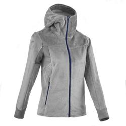 MH520 Women's mountain hiking fleece jacket - Grey