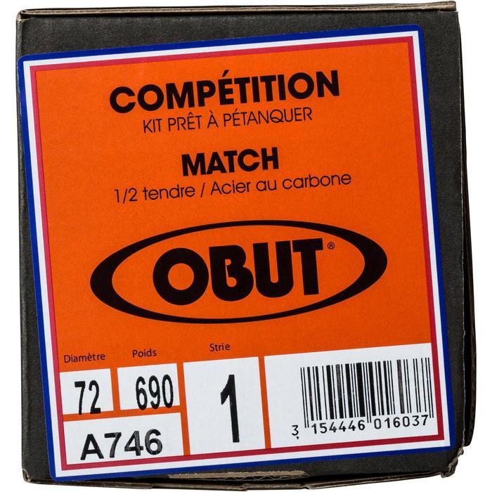 Boulekugeln Match glatt oder geriffelt Allround Wettkampf 3 Kugeln halbweich