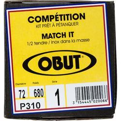 3 BOULES DE PÉTANQUE COMPÉTITION OBUT MATCH IT