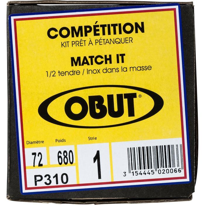 Boulekugeln Match IT glatt oder geriffelt Allround Wettkampf 3 Kugeln halbweich