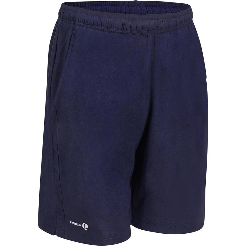 SHORT TENNIS ENFANT 100 BLEU MARINE