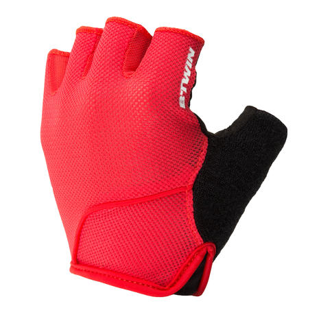 500 Road Cycling Gloves - Neon Red