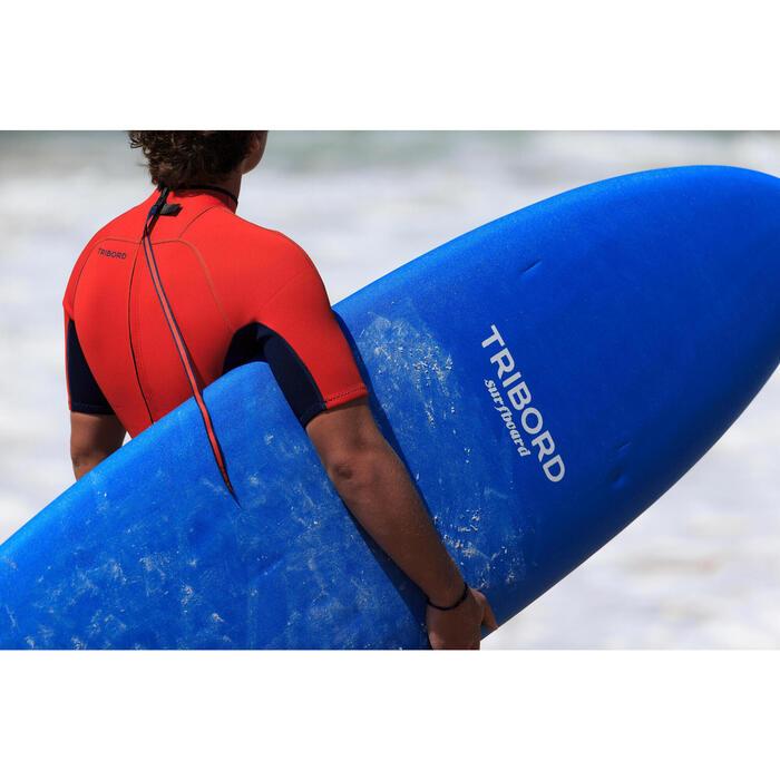 Traje Surf shorty 100 Neopreno Hombre Azul Tribord  eb6ee6ea657