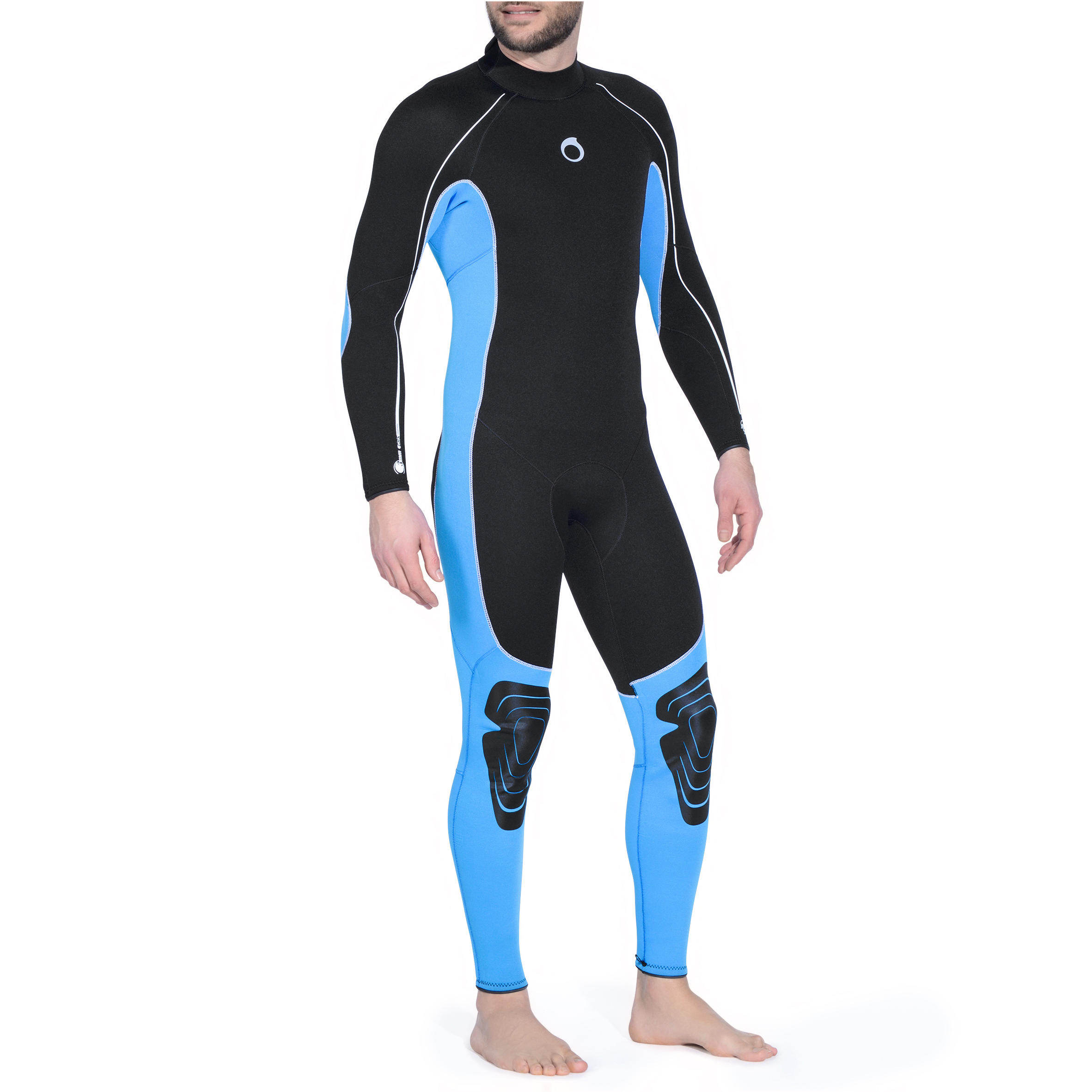 Men SCUBA Diving Wetsuit 3 mm SCD 100 Blue/Black