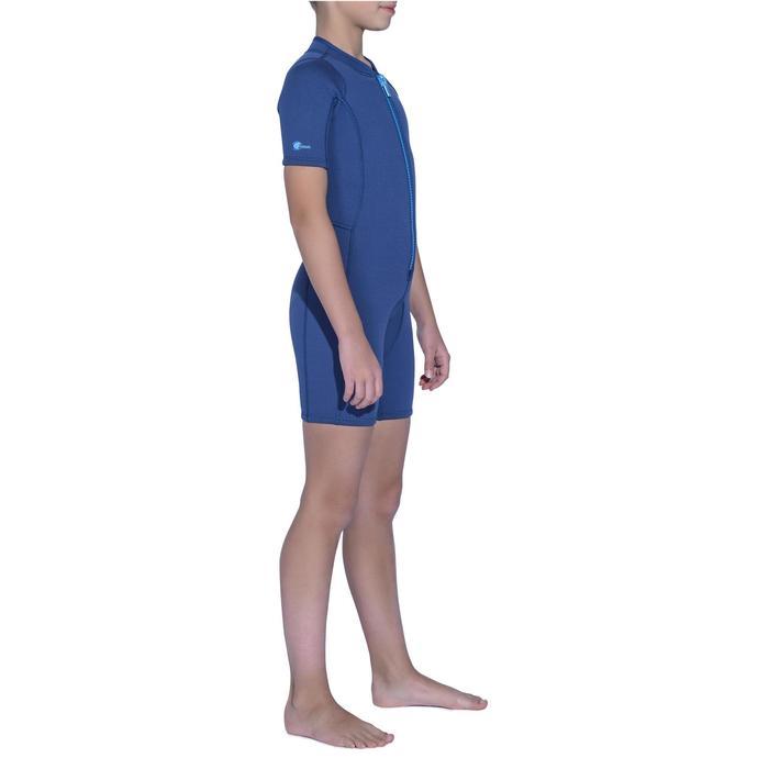 Neopreno Corto Snorkel Subea Shorty SNK100 2 mm Niño Azul Marino