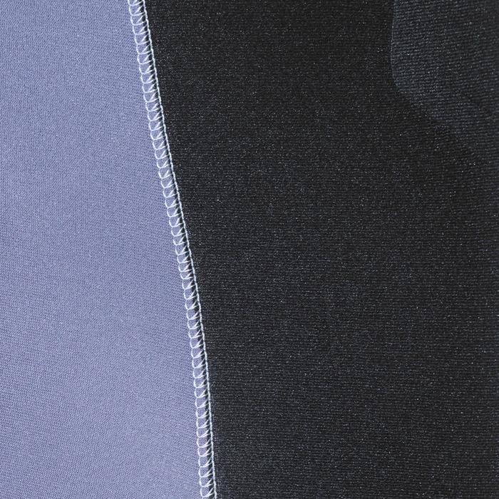 Veste combinaison de chasse sous-marine apnée 5mm SPF 100 noir gris