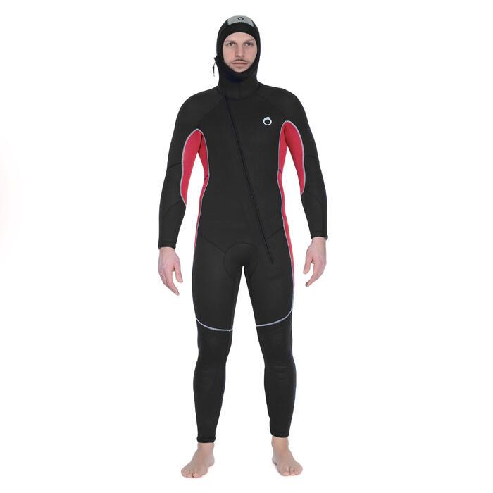 Combinaison de plongée sous-marine SCD 100 homme néoprène 7,5 mm eau froide