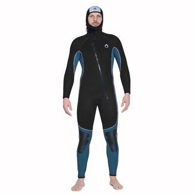 Men's neoprene SCD scuba diving suit 100 5 mm with front zip