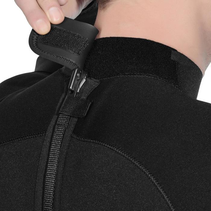 Neoprenanzug Tauchen SCD 100 Neopren 3mm mit Rücken-Reißverschluss Herren