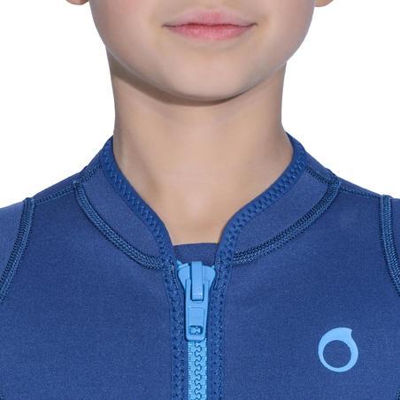 """Bērnu īsais 2 mm snorkelēšanas tērps """"100"""", tumši zils"""