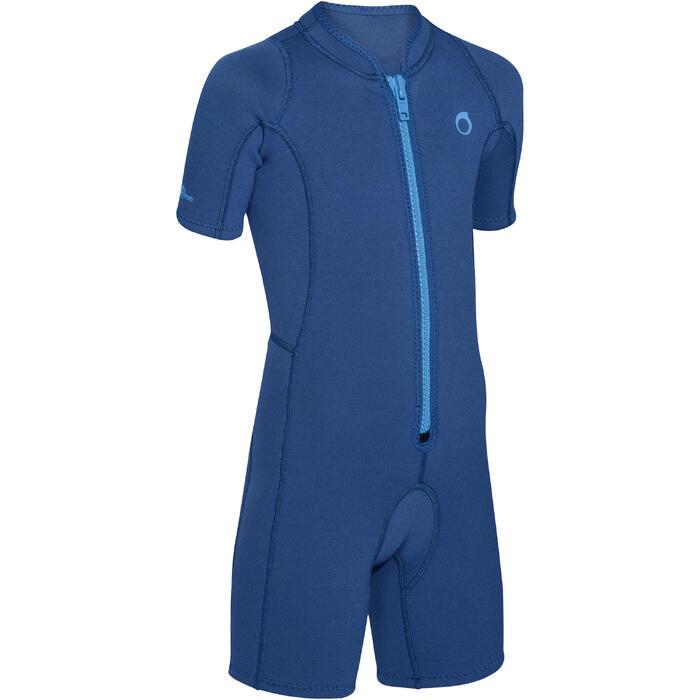 Kindershorty 100 voor snorkelen 2 mm marineblauw
