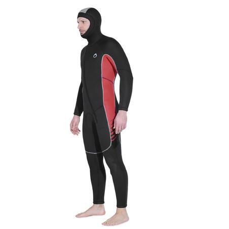 Combinaison de plongée en eau froide SCD100 de 7,5mm en néoprène– Hommes