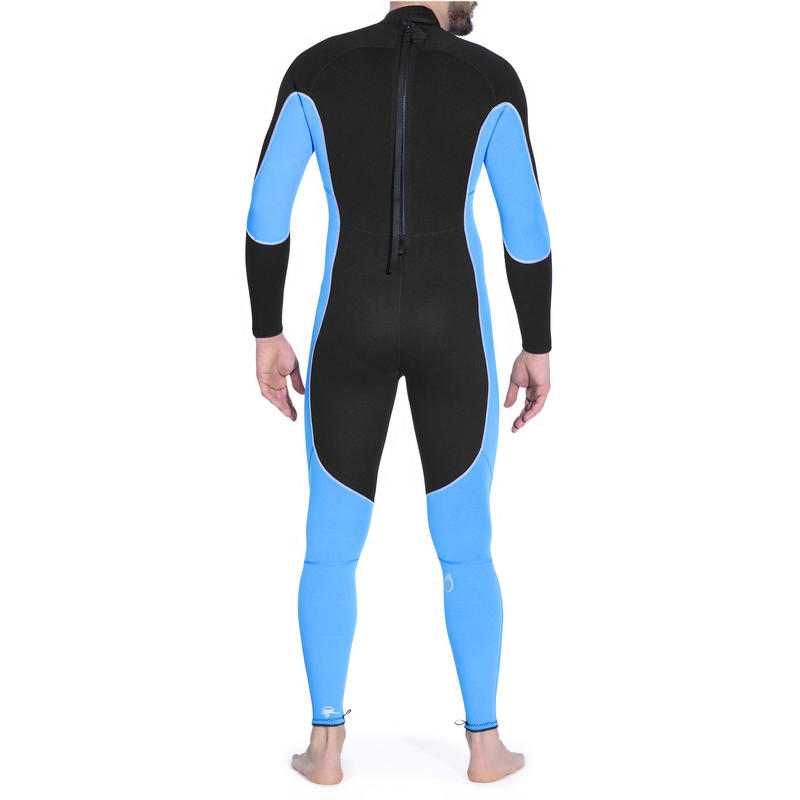 Men's SCD 100 3 mm diving wetsuit with back zip