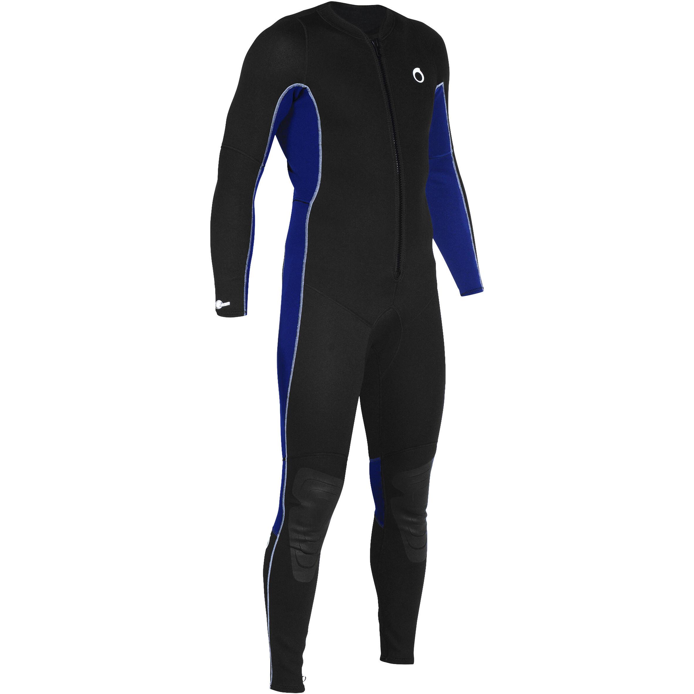 Subea Heren fullsuit voor snorkelen 2 mm zwart