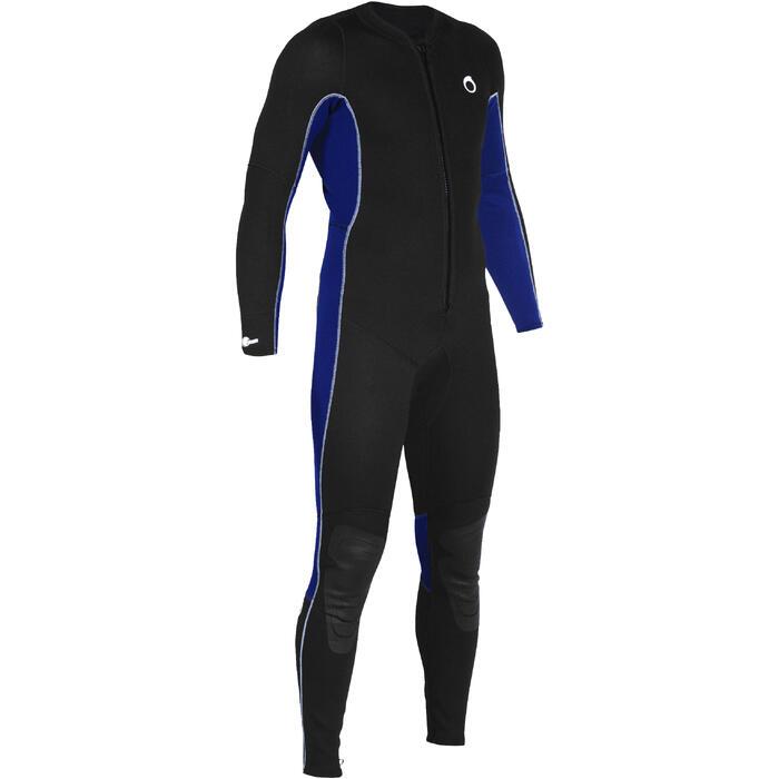 Heren fullsuit voor snorkelen 2 mm zwart