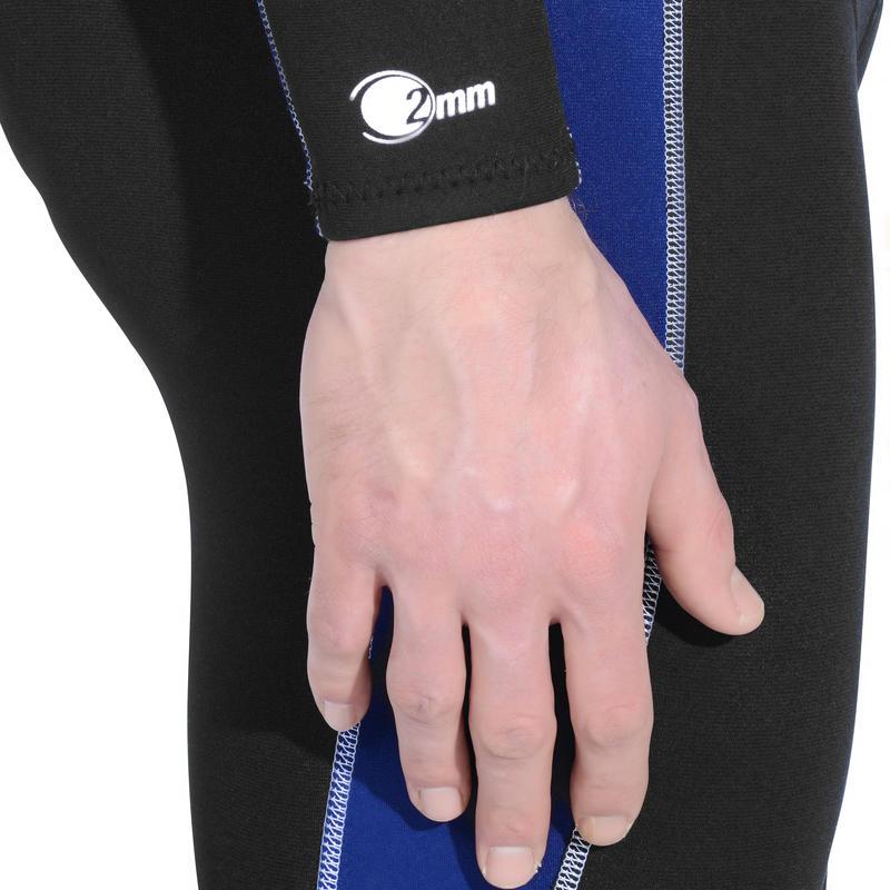 Men's 2 mm Full Snorkelling Wetsuit - Black