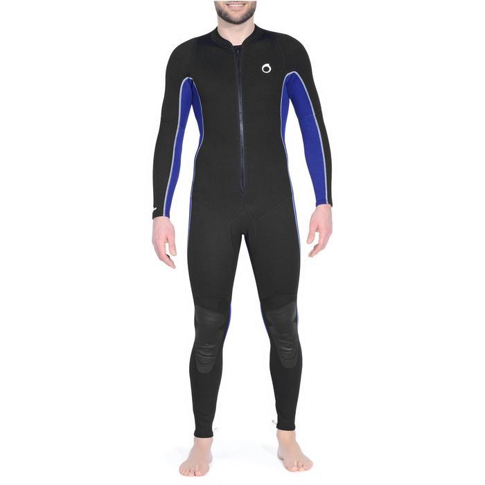 Combinaison intégrale de snorkeling homme 2 mm noire