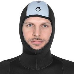 Duikvest SPF 100 voor harpoenvissen en vrijduiken, 5 mm, zwart/grijs - 1175467