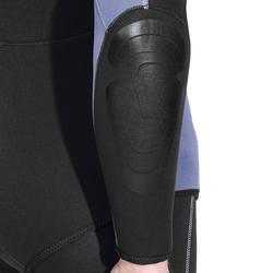 Duikvest SPF 100 voor harpoenvissen en vrijduiken, 5 mm, zwart/grijs - 1175482