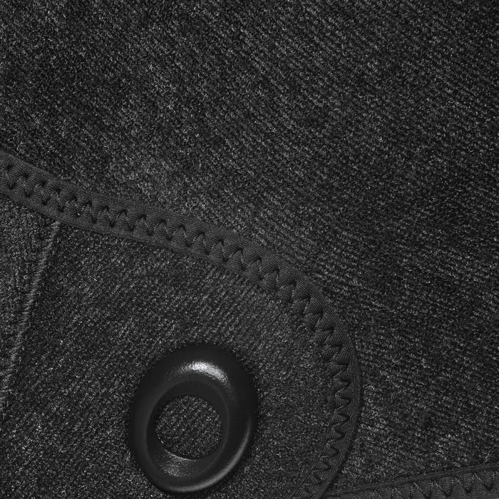 Veste combinaison de chasse sous-marine apnée 5mm SPF 100 noir gris - 1175489