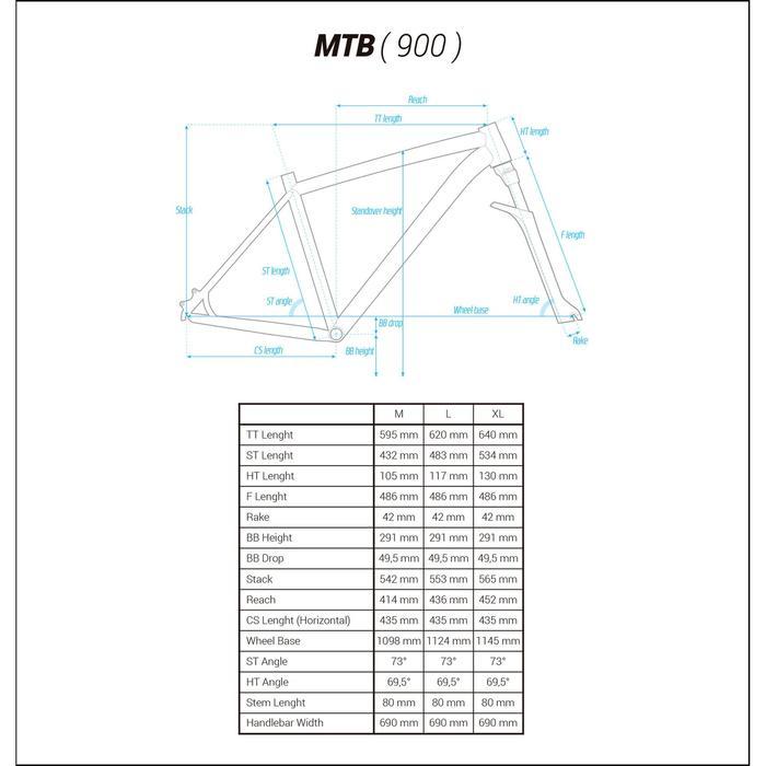 "Rockrider 900 27.5"" Mountain Bike - Grey/Neon Yellow - 1175523"